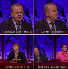 "41 Times ""Have I Got News For You"" Perfectly Summed Up Britain - Jesters - Best Humor Funny You Funny, Funny People, Hilarious, Funny Stuff, Funny Things, British Humor, British Comedy, Mock The Week, Are You Not Entertained"