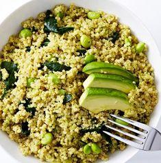 Green Goddess Quinoa Salad  #BiteMeMore #healthy #quinoa
