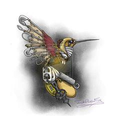 Time is Fleeting: Steampunk Hummingbird Final by IAmPickledTink.deviantart.com on @DeviantArt
