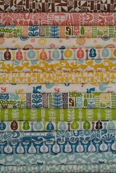 Dennis Bennett Birch Organic Fabrics, Ipanema, Entire Collection 15 FAT QUARTERS in Total