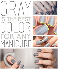 Gray manicures