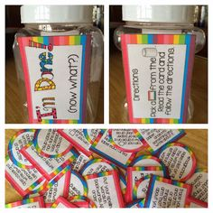 I'm Done!  Now What?  A jar activity for early finishers