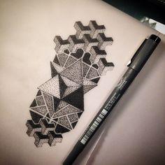 Another geometric design #work #art #tattoo #tattoodesign #tattooart #tattooist #artwork #designs #dark #darkartists #geometric #dotwork #dotworkart #dotworkdesign #dots #blacktattoo #blackwork #geotattoo #blxckink #blacktattooart