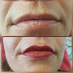 Round 1 PMU lips. Nu al blij met het tussenresultaat. Dank Kim!