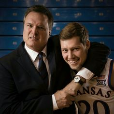 Kansas Jayhawks Head Coach Bill Self & his son Tyler, a 2017 Senior. Kansas Jayhawks Basketball, Kansas Basketball, Basketball Players, Ku Bball, Ku Sports, Bill Self, Go Ku, U Rock, Baseball Signs