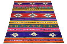 Turkish Vintage Kilim Rug 77 x 59 feet Trendy by kilimwarehouse