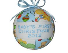 2012 Baby's First Christmas Ornament by craftcrazy4u on Etsy, $13.00