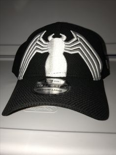 0f1a3992be679 New era Marvel Spiderman black suit symbol on front and back 39THIRTY  Spiderman Black Suit