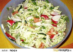Barevný salát z pekingského zelí recept - TopRecepty.cz Cobb Salad, Potato Salad, Cabbage, Potatoes, Vegetables, Ethnic Recipes, Diet, Potato, Cabbages
