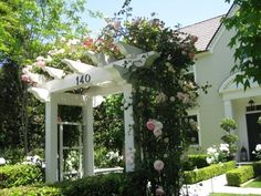 Front entry rose arbour
