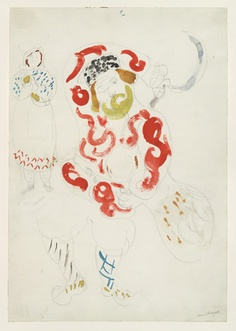 Marc Chagall. Costumes for Peasant, costume design for Aleko (Scene III). (1942)
