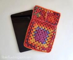 22 Granny Square Projects | Fruit Punch Tablet Sleeve by Fiber Flux