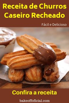 Delicious Churros Recipes Online is under construction Diabetic Recipes, Snack Recipes, Cooking Recipes, Snacks, Gluten Free Churros Recipe, Good Food, Yummy Food, Cookies, Diy Food