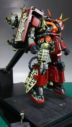 太田垣版メカニカル・サイコザク Transformers, Gundam Mobile Suit, Gundam Custom Build, Gundam Art, Gunpla Custom, Super Robot, Mechanical Design, Robot Art, Gundam Model