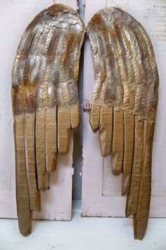 Bronze rusty wings large wood carved wall by AnitaSperoDesign, $195.00