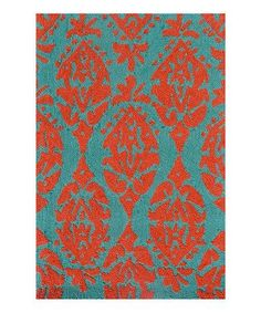 ~ Teal and Orange Maracus Rug by Pop Accents