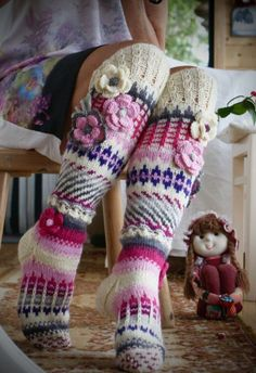 Patrones de calcetines y medias