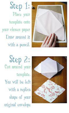 DIY homemade envelopes from scrap paper « « PinCookie.com PinCookie.com