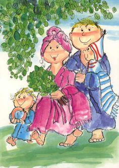 ˇˇ Vintage Christmas Cards, Fantasy Artwork, Whimsical Art, Cute Illustration, All Art, Kids Playing, Mythology, Illustrators, Glass Art