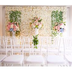 Floral Engagement Party of Neysa and Adrie - Dekorasi Engagement Decorations, Wedding Decorations, Table Decorations, Engagement Ideas, Parties Decorations, Wedding Mint Green, Green Weddings, Indonesian Wedding, Flower Backdrop