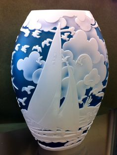 Fenton Art Glass Sail Away Vase