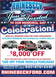 ford memorial day sale 2013