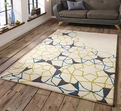Element Spectrum SP-37 Ivory / Green / Blue Rugs | Modern Rugs