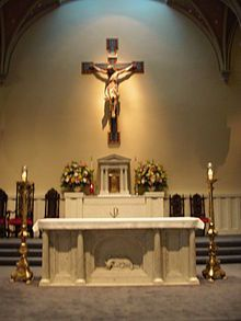 I am Chatholic, so this is a picture of alter used at churches.  This describes me by showing what and who I believe in.  Also a bit of how I worship. -JC