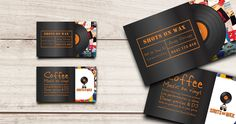 Business card design | which required working with client's existing logo, branded colour and font style
