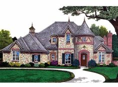 French+Country+House+Plan+with+3437+Square+Feet+and+4+Bedrooms+from+Dream+Home+Source+|+House+Plan+Code+DHSW63401