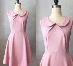 PROVENCE BLUSH  Round collar rose pink fit & by FleetCollection