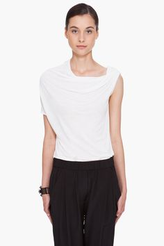 white draped tank top ▲ lanvin