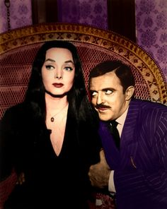 I've always adored; Gomez & Morticia Addams... They Have Such An Awesome Marriage. Love them....