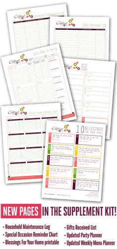Planner  Part free , supplements to purchase Pin now, Check it out later