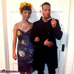 Hallowen Costume Couples Van Gogh and his Masterpiece - 2013 Halloween Costume Contest via