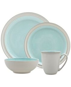 Denby Azure Blends Dinnerware Set - Blue Add a modern touch of color to your tablescape in the convenience and durability of stoneware with Denby's Peveril Blend dinnerware set. Blue Dinnerware Sets, Stoneware Dinnerware Sets, Casual Dinnerware, Sock Shoes, Shoe Boots, Kitchenware, Tableware, Dish Drainers, Kitchen Themes
