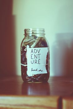 Adventure money jar. I love this idea. Most of our adventures are outdoor related so a little cash set aside for gas and picnic fixings wouldn't hurt :) -E-