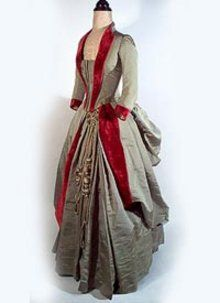 1885 silk & velvet dress - Courtesy  pastperfectvintage.com