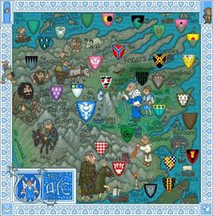 J.E. Fullerton's Massively Detailed Game Of Thrones Map Of Westeros: The Vale