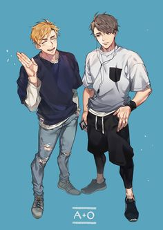 This is some beatiful men Haikyuu Funny, Haikyuu Ships, Haikyuu Fanart, Haikyuu Anime, Fanarts Anime, Anime Characters, Manga Anime, Anime Art, Cute Anime Guys