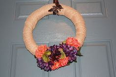 The Epicurean Crafter: Easy Fall Burlap and Flower Wreath