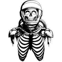 Zombie Astronaut Skeleton Skull Alien Car Boat Truck Window Vinyl... ❤ liked on Polyvore
