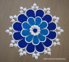 Easy Rangoli Designs Videos, Rangoli Designs Simple Diwali, Simple Flower Rangoli, Simple Rangoli Border Designs, Indian Rangoli Designs, Rangoli Designs Latest, Rangoli Designs Flower, Free Hand Rangoli Design, Small Rangoli Design