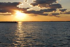 Sandusky Bay sunset from Jackson St. pier.