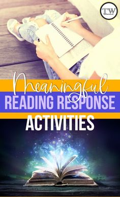 Meaningful response to reading activities for middle and high school ELA. Engage students in critical thinking activities during reading! #MiddleSchoolELA #HighSchoolELA #ReadingActivities