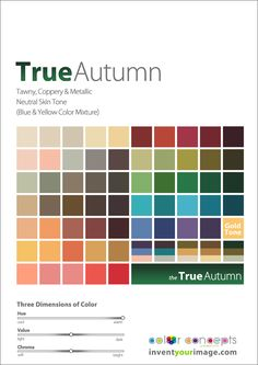 Colors for a True Autumn Man www.inventyourimage.com