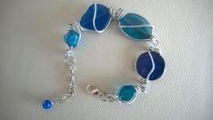 Asymmetric bracelet Wire wrapped bracelet Blue jewelry Diy Jewelry Kit, Jewelry Making, Modern Jewelry, Boho Jewelry, Wire Jewelry, Blue Necklace, Collar Necklace, Bijoux Design, Jewelry Design