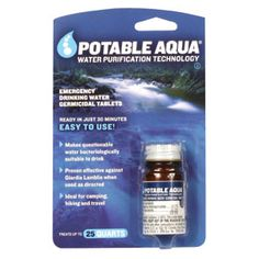 Emergency Supplies - Water Purification Tablets 50 for $5.95