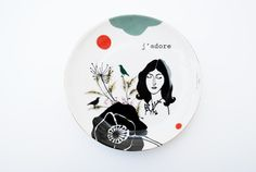 Antique plate with Ida (j'adore) #1004 by celindaversluis on Etsy