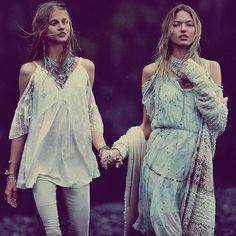Gypsy inspiring Knit Cardigan and Long Dress Off Shoulders Lace Top